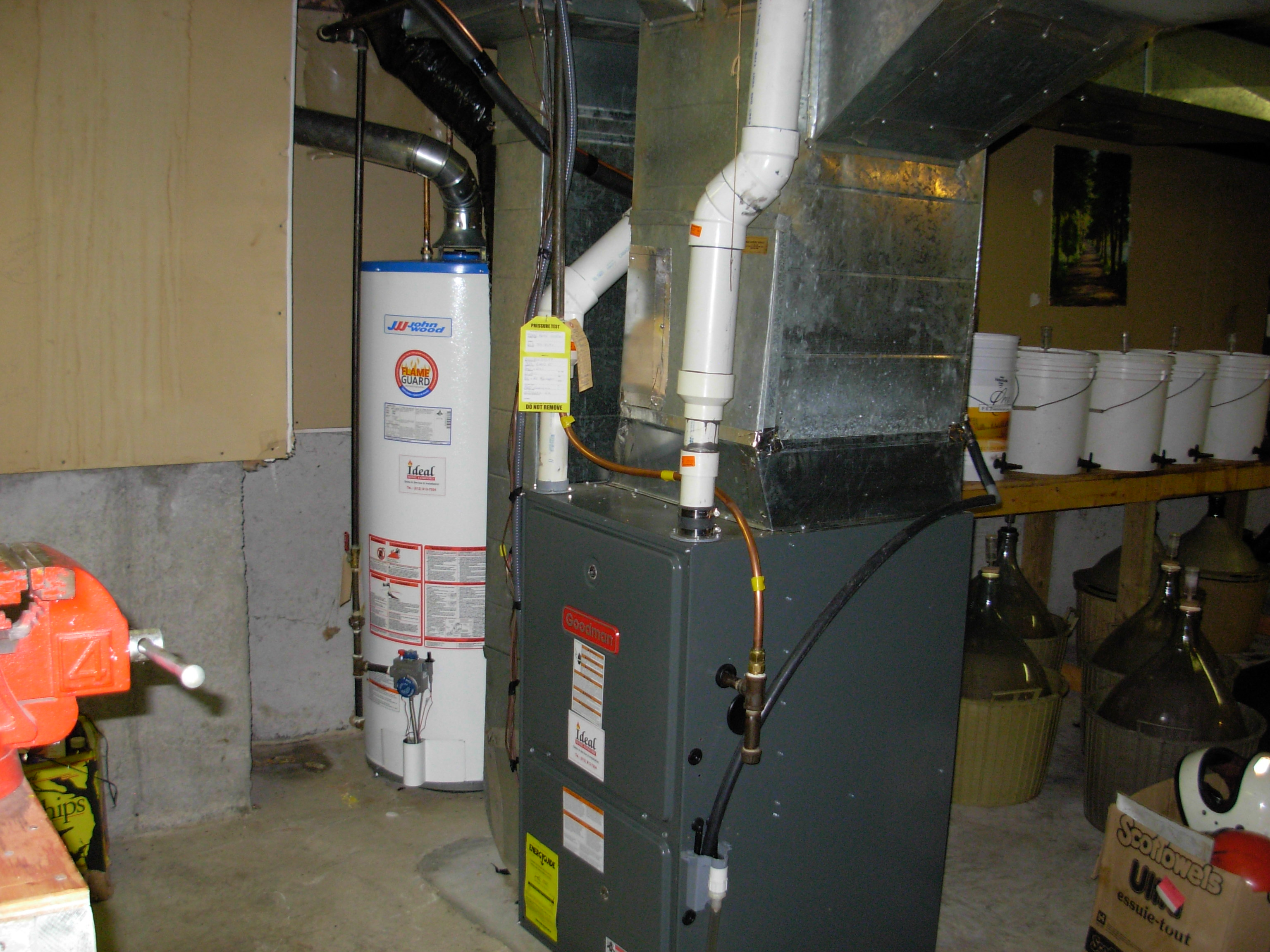 Goodman Furnace And 60 Usgal Hot Water Tank In Stittsville