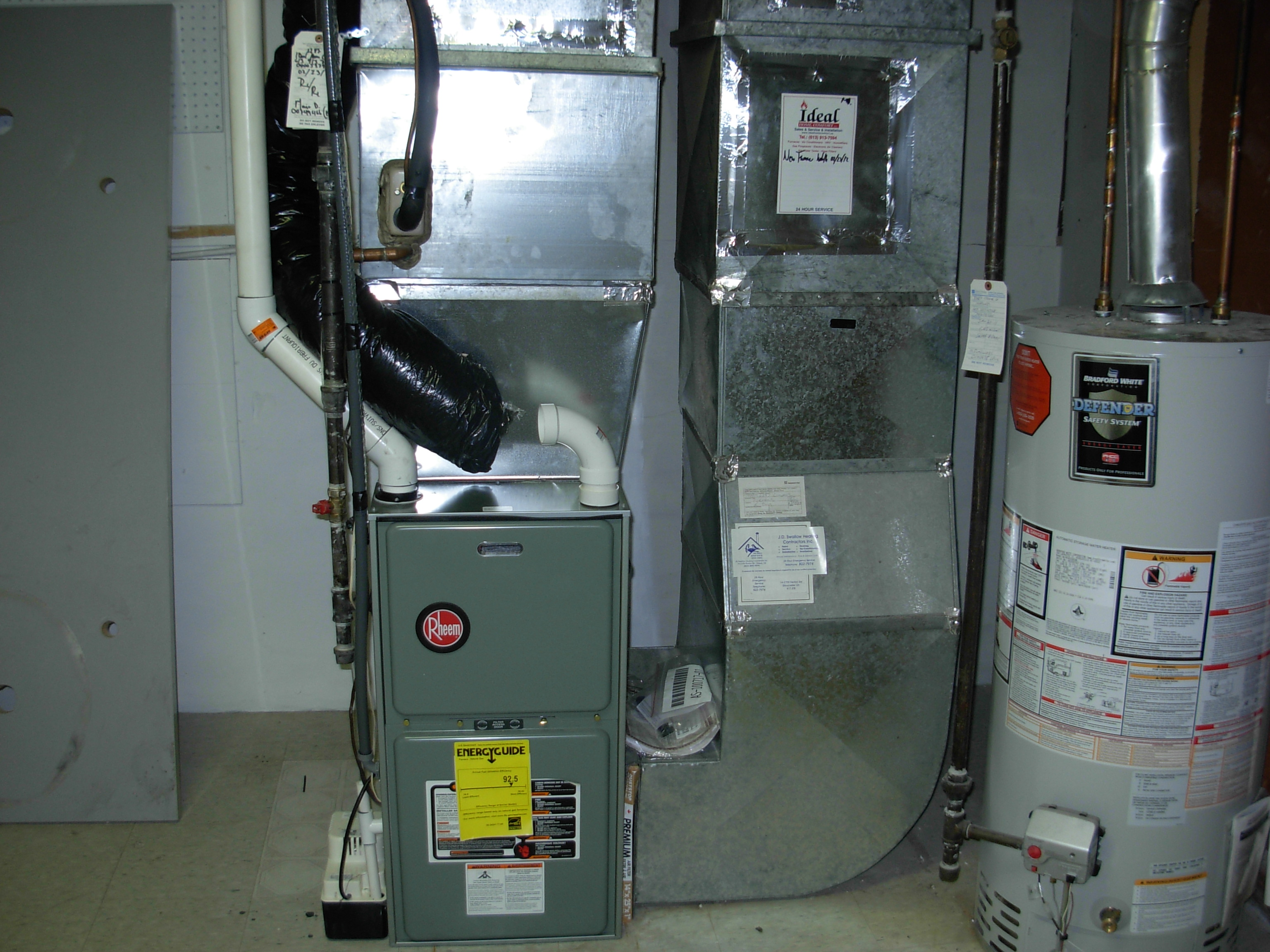 after rheem high efficiency furnace | ideal home comfort